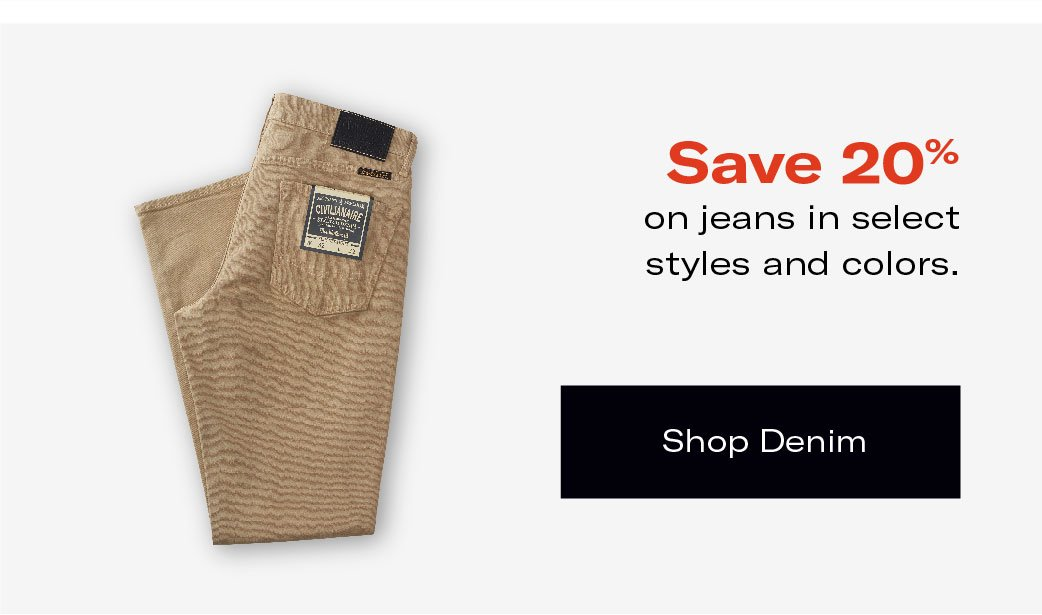 Save 20% on Jeans