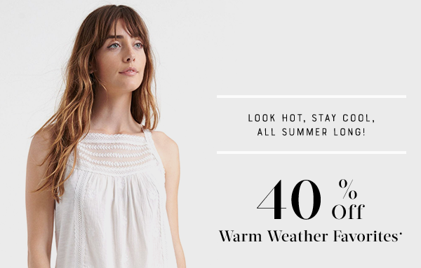 40% Off Weather Favorites