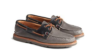 Gold Cup Handcrafted in Maine A/0 Tri-Tone Boat Shoe
