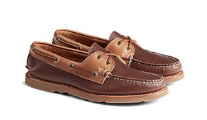Gold Cup Handcrafted in Maine A/O Tri-Tone Boat Shoe