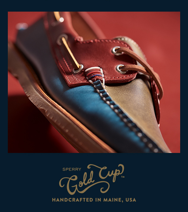 Sperry Gold Cup.  Handcrafted in Main, USA.
