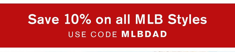 Save 10% On All MLB Shirts - Use Code MLBDAD