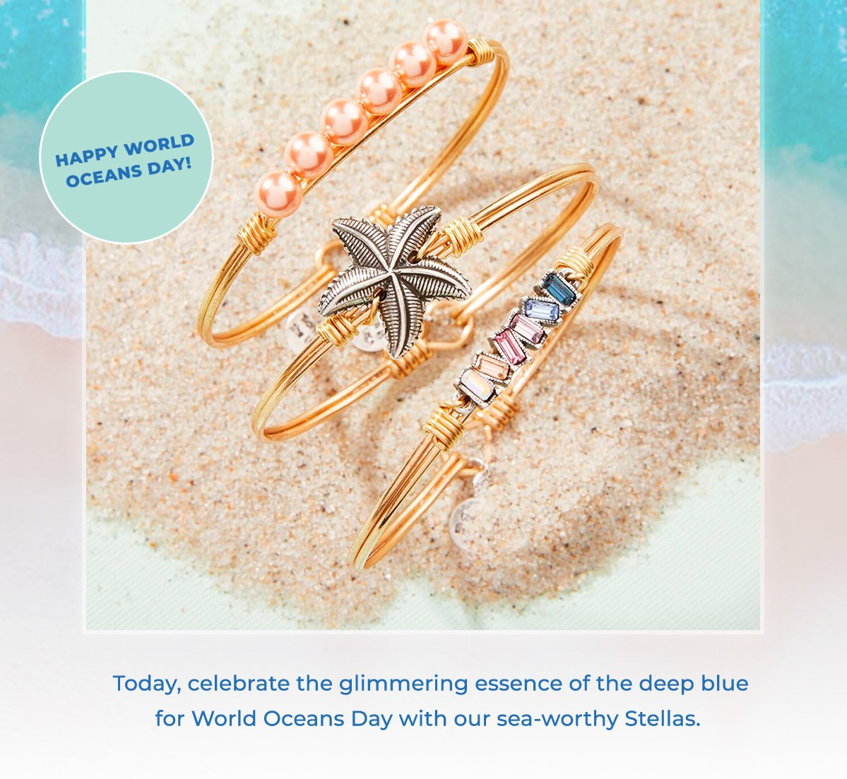Today, celebrate the glimmering essence of the deep blue for World Oceans Day with our sea-worthy Stellas.