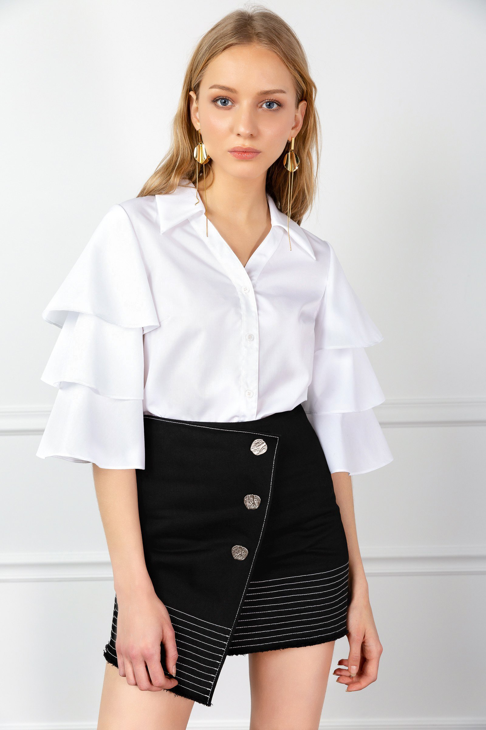 Image of TIERED LANA BLOUSE
