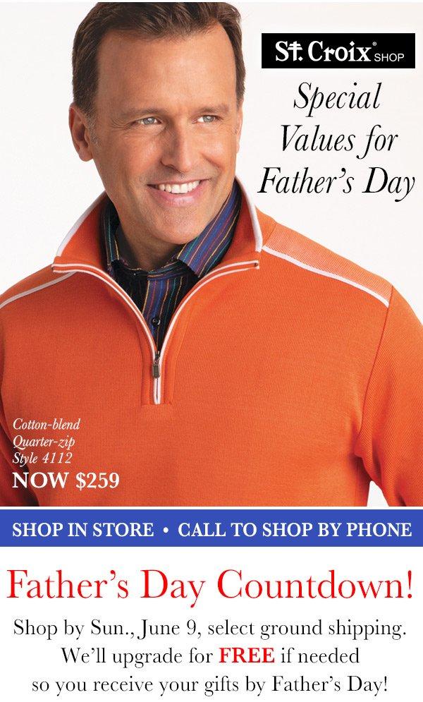 Cotton Quarter-Zip Pullover - Style 4112