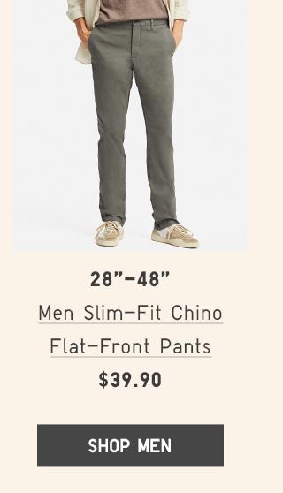 BODY2 PDP2 - MEN SLIM-FIT CHINO FLAT-FRONT PANTS