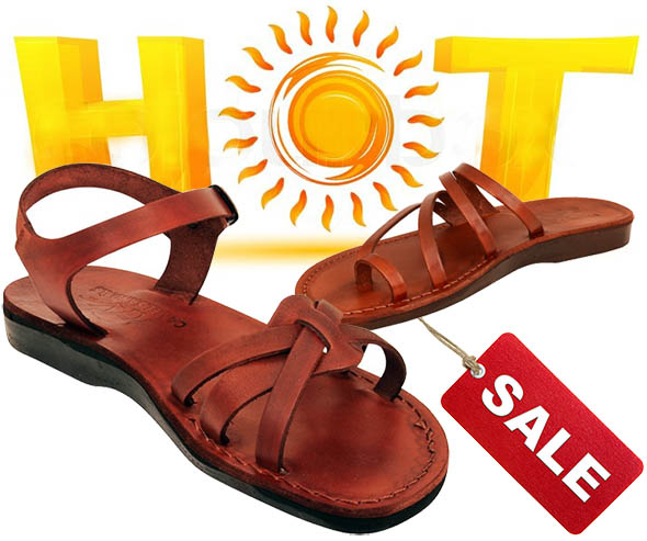 100/% LEATHER,HANDMADE Biblical Jesus sandals-Galilee Lady PREMIUM QUALITY