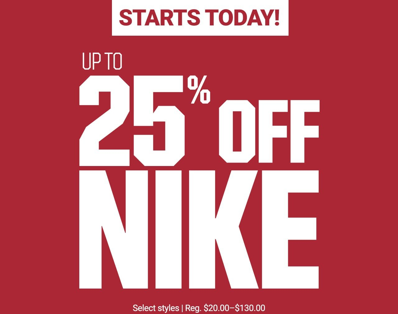 ac73994a7097 The Sports Authority: Up to 25% Off Select Nike Starts NOW! | Milled