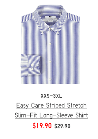 BODY1 CTA1 - MEN EASY CARE STRIPED STRETCH SLIM-FIT LONG-SLEEVE SHIRT