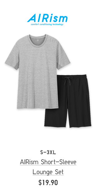 BODY4 CTA2 - MEN AISRISM SHORT-SLEEVE LOUNGE SET