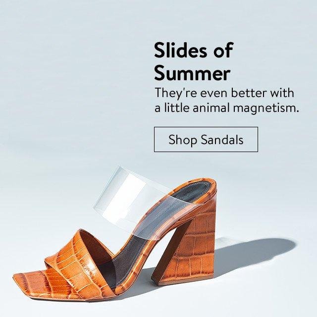 Slides of summer: women's sandals.