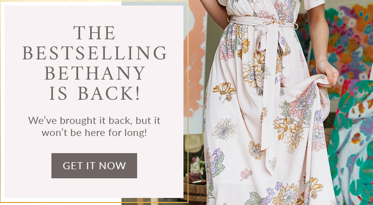 Bethany Pink Floral Wrap Maxi Dress