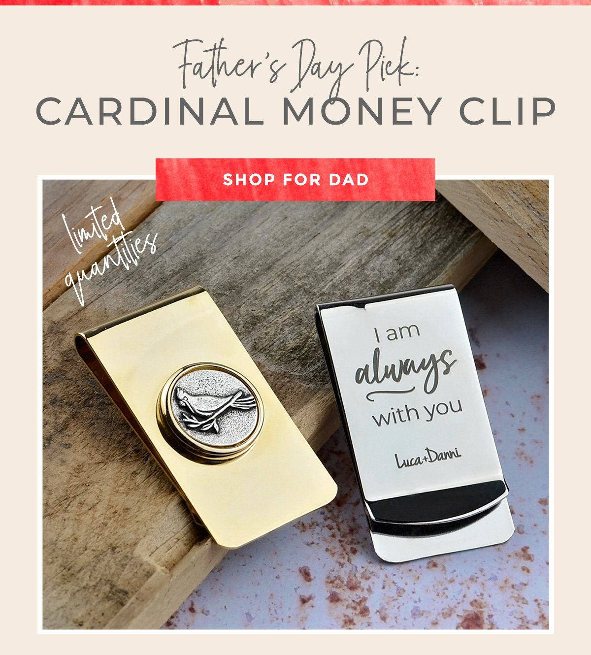 Father's Day Pick: CARDINAL MONEY CLIP | SHOP FOR DAD