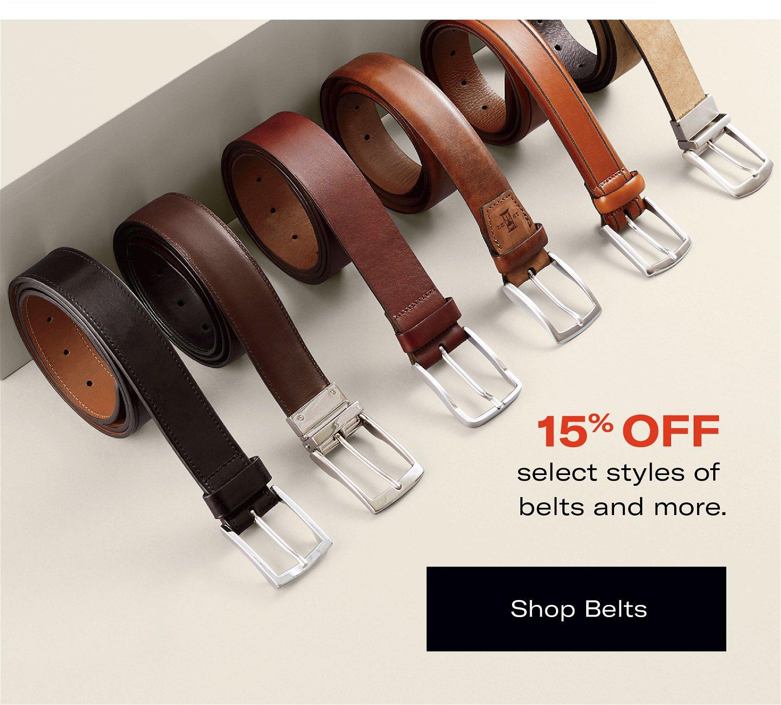 Save 15% on Belts