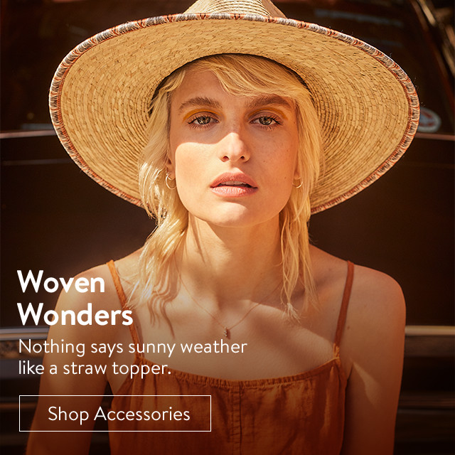 Woven wonders: women's straw hats and more.