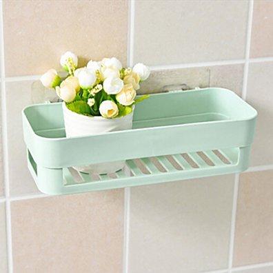 Plastic Suction Cup Bathroom Kitchen Corner Storage Rack Organizer Shower Shelf