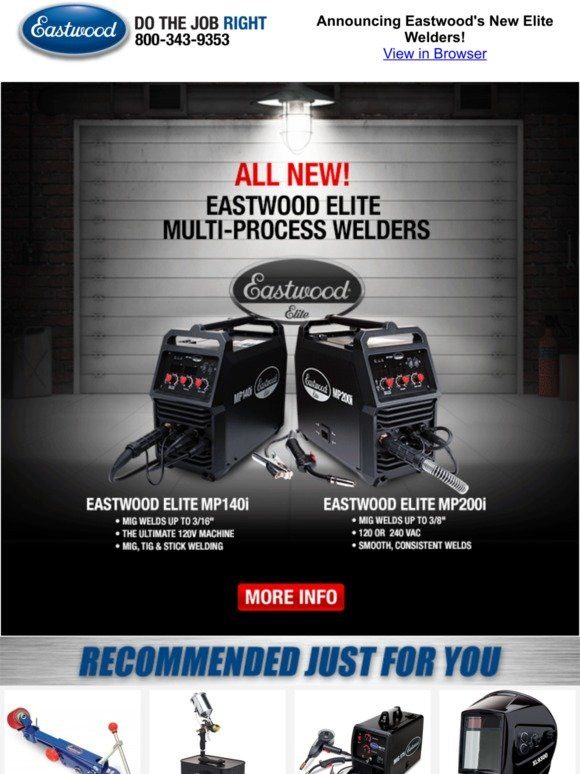 The Eastwood Company: Announcing Eastwood's New Elite Welders! | Milled
