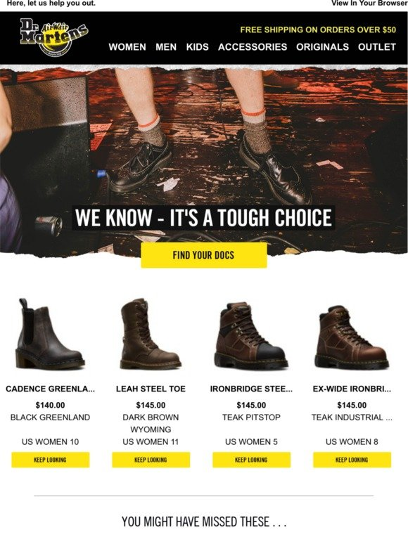 dr martens de: Are you looking for something?   Milled