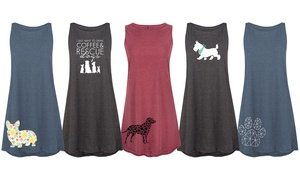 Dog Mom Tank Dresses. Plus Sizes Available.