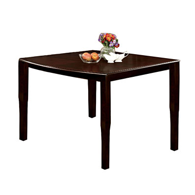 Woodside II Transitional Style Counter Height Table, Espresso Finish
