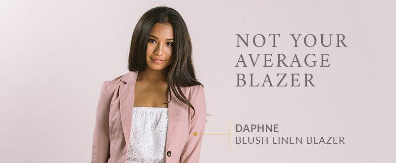 Daphne Blush Linen Blazer