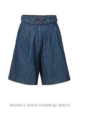 Women's Denim Chambray Shorts