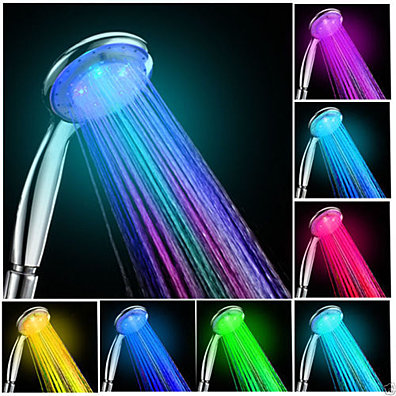 NEW 7 Colors Changing LED Shower Glow Light