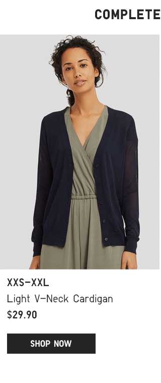BODY1 PDP1 - WOMEN LIGHT V-NECK CARDIGAN