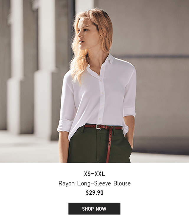 BODY1 - WOMEN RAYON LONG-SLEEVE BLOUSE