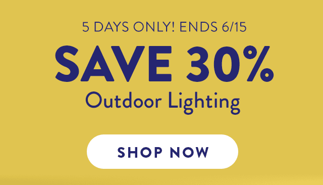 Save 30% Outdoor Lighting ›