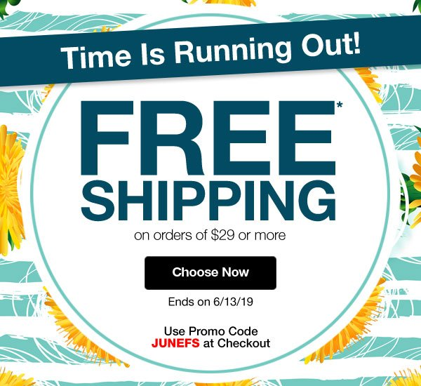Get FREE SHIPPING on orders of $29 or more when you use promo code JUNEFS at checkout!