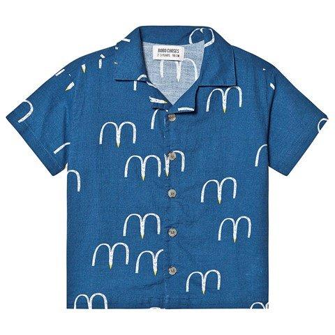 Bobo Choses Blue Birds Hawaiana Shirt