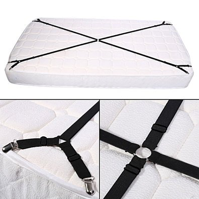 2Pcs Metal Bed Sheet Fasteners Mattress Strong Clip Grippers Elastic Holder