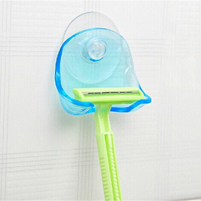 Shaver Toothbrush Holder Washroom Wall Sucker Suction Cup Hook Razor Bathroom