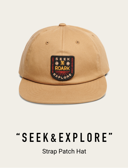 SEEK AND EXPLORE STRAP PATCH HAT