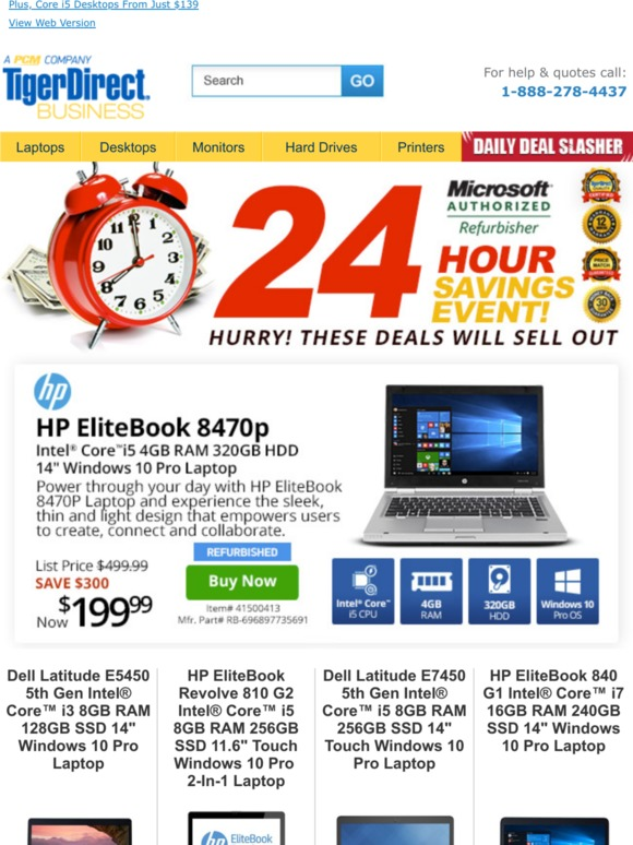 TigerDirect: Don't Sleep On These Great Deals! Core i5 HP