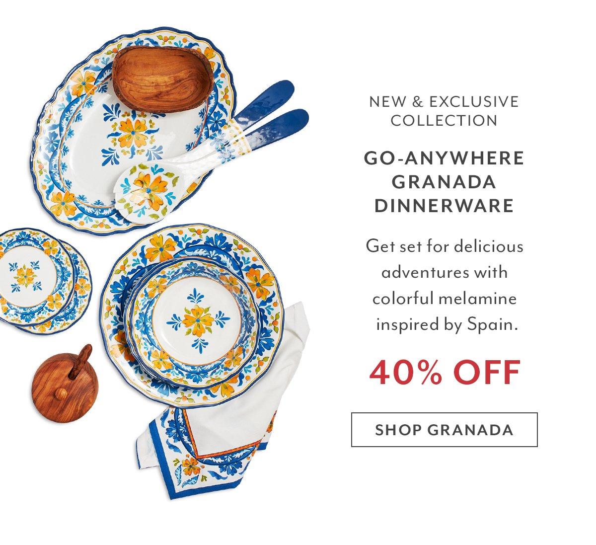Go-Anywhere Granada Dinnerware