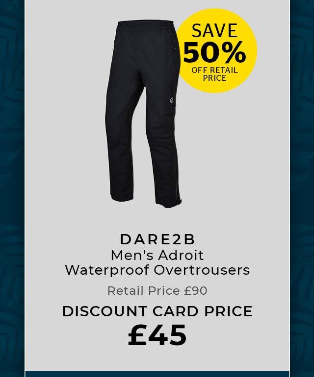 DARE 2B Men's Adroit Waterproof Overtrousers