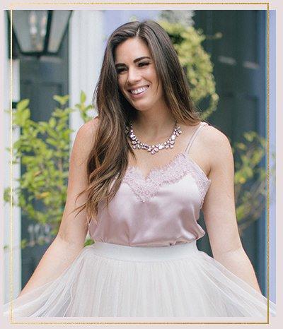Kara Pink Lace Silky Cami