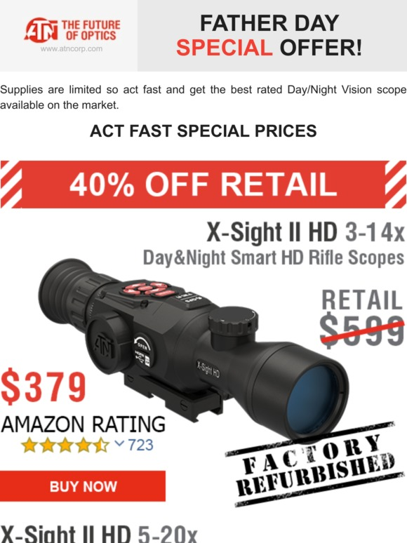 ATN - Maker of Night Vision and Thermal Imaging: Fathers Day