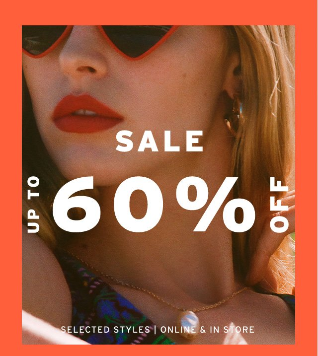 Browse the sale with up to 60% off