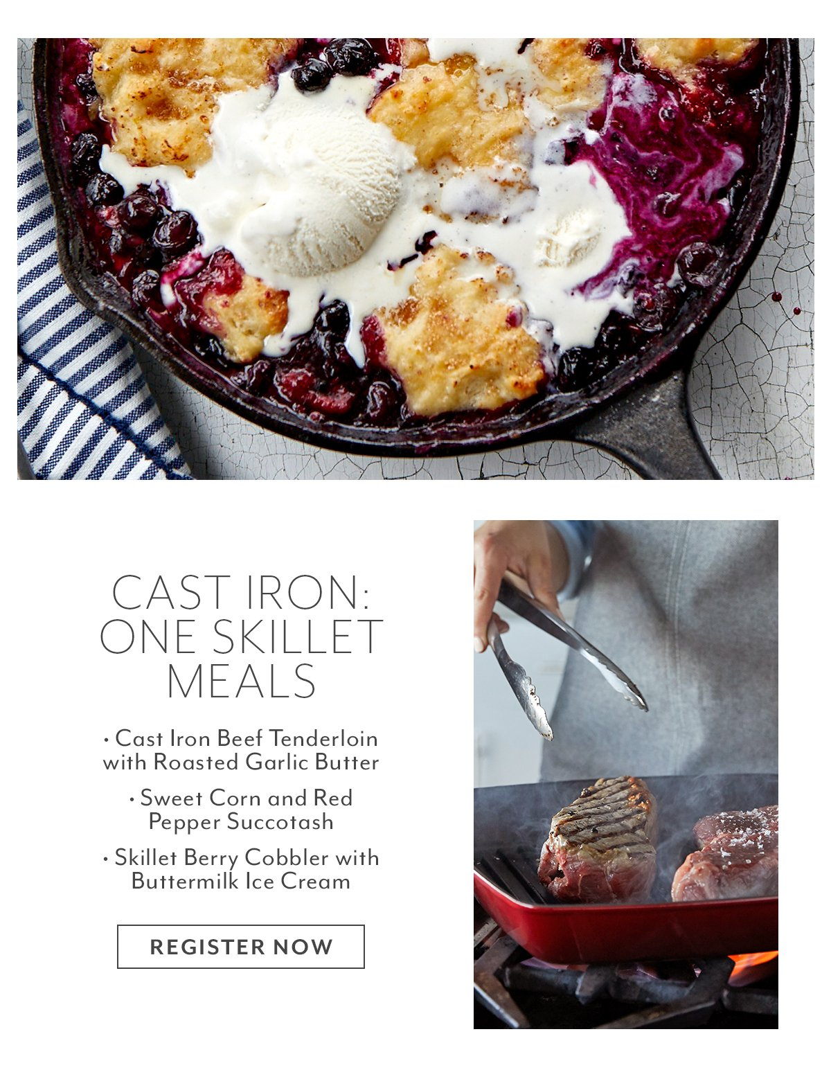 Class: Cast Iron • One Skillet Meals