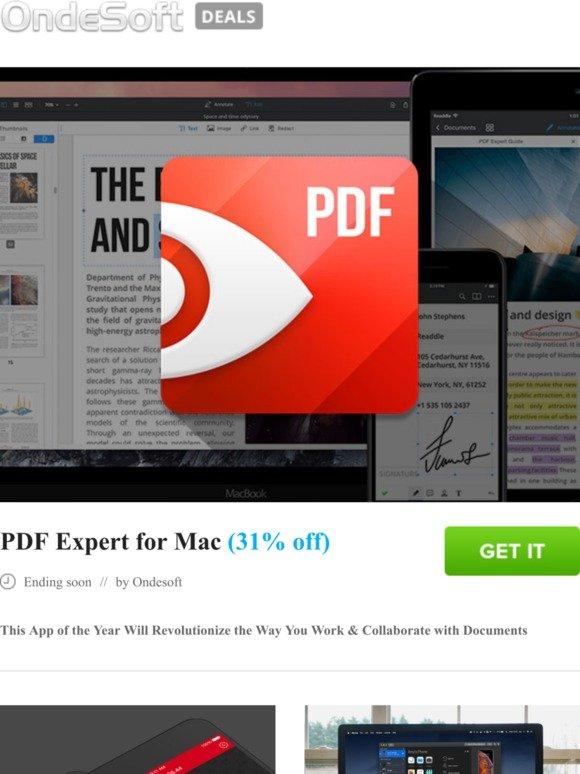 torrentsoft: PDF Expert for Mac (31% off) | Milled