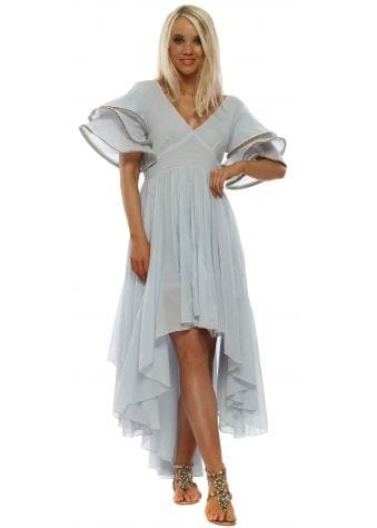 Artic Ice Multi Flare High Low Dress