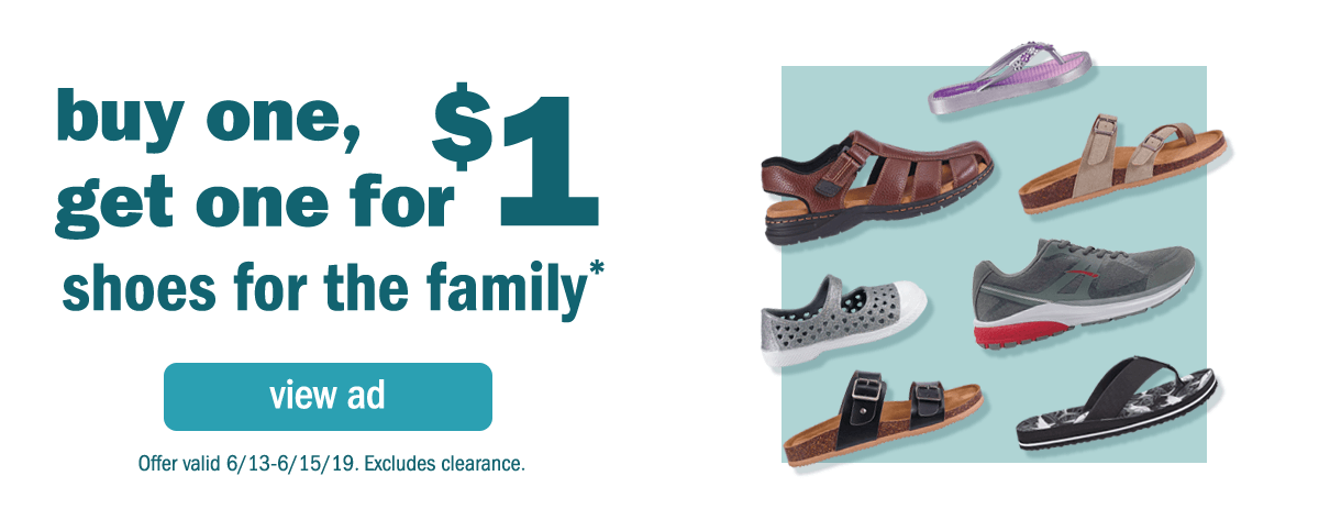Meijer: Buy One, Get One for $1 Shoes