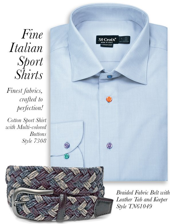 Colored Button Sport Shirt - Style 7308