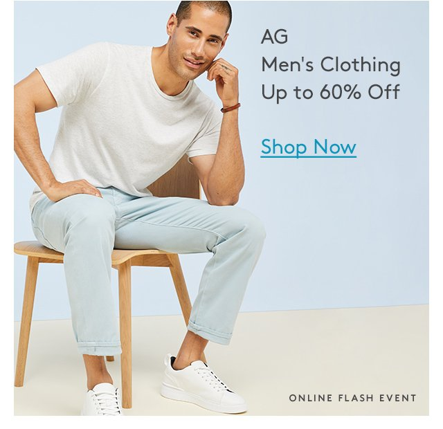 AG | Men's Clothing | Up to 60% Off | Shop Now | Online Flash Event