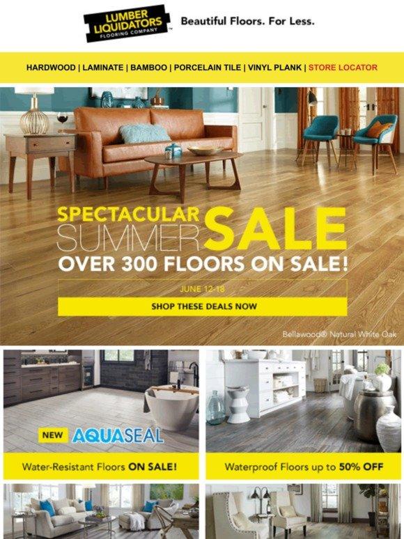 Lumber Liquidators: 300+ floors on sale! Summer Spectacular