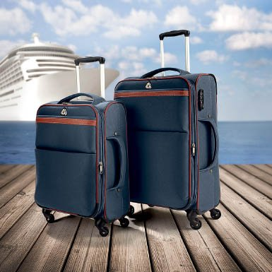 Ultra Lightweight Wheeled Suitcases, set of 2