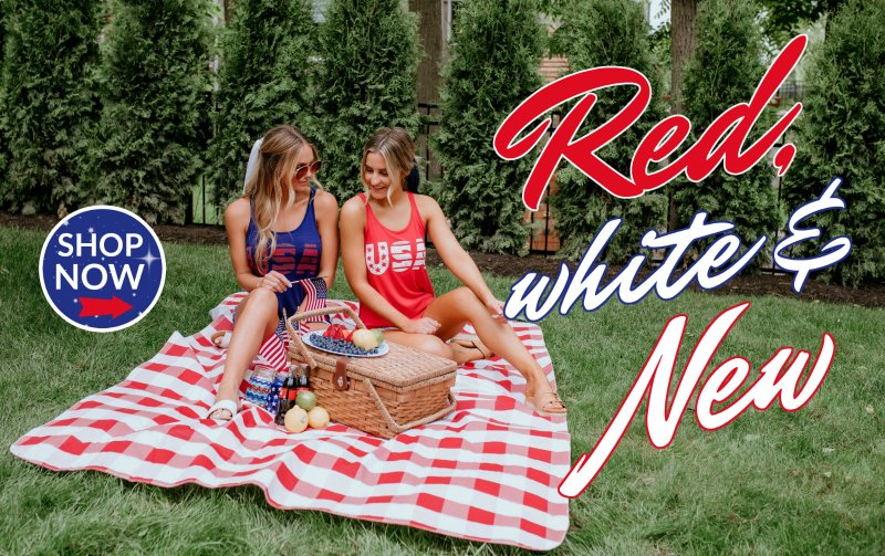 red, white, and new collection